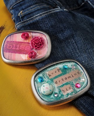 (via Dimensional Magic belt buckles. - Mod Podge Rocks!)