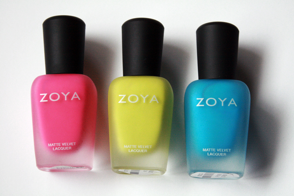 Zoya's Mod Mattes Collection. See swatches here.