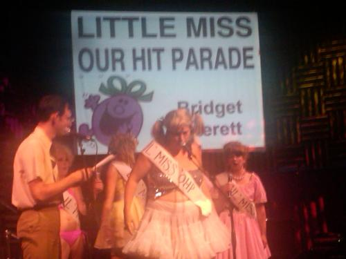 Little Miss Hit Parade @joespubnyc And here's a video of one of last night's highlights: Jeffery Sewell (age ?) singing Lady Gaga's Born This Way http://www.youtube.com/watch?v=TQ6XMQjVOvw