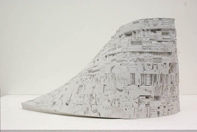 Star Wars Relief, 2011 (timelapse photograph of Star Wars IV transformed into a surface relief) by Sam Burford via TRIANGULATION BLOG