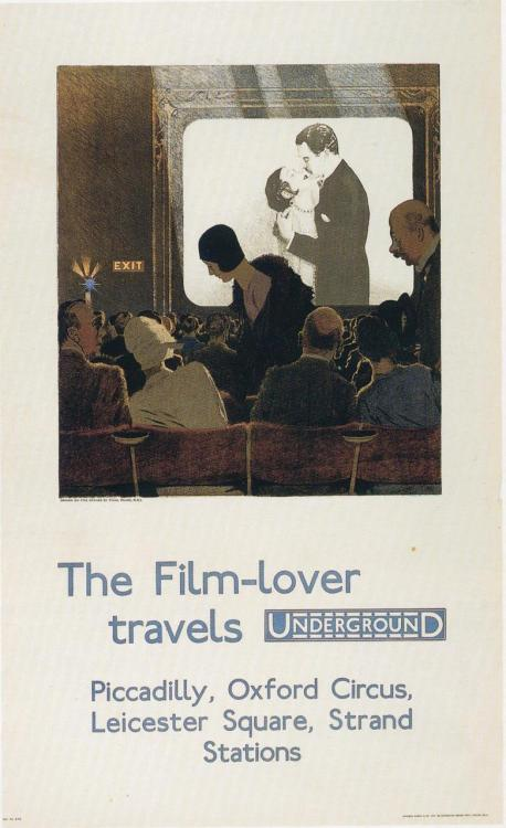 The Film-lover travels Underground, by Charles Pears, 1930