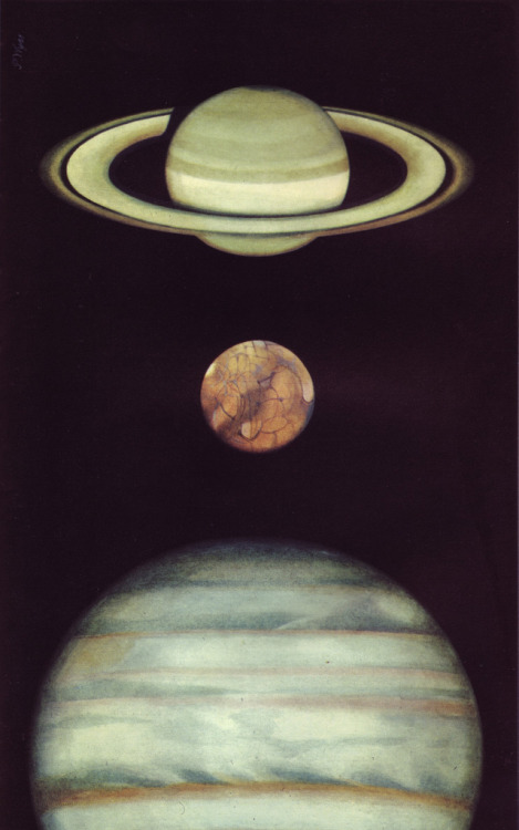 "This is ""Saturne, Mars, Jupiter,"" illus. by Peter Wyss for Le Livre de la Sante vol.1 (1967). More here."
