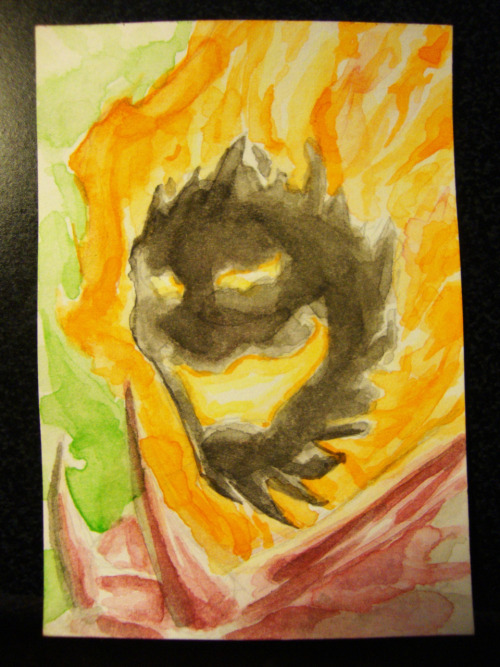 Dormammu 2x3 inch watercolor card