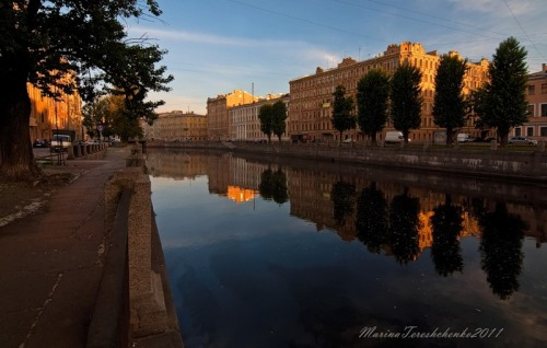 Morning in Saint Petersburg, Russia