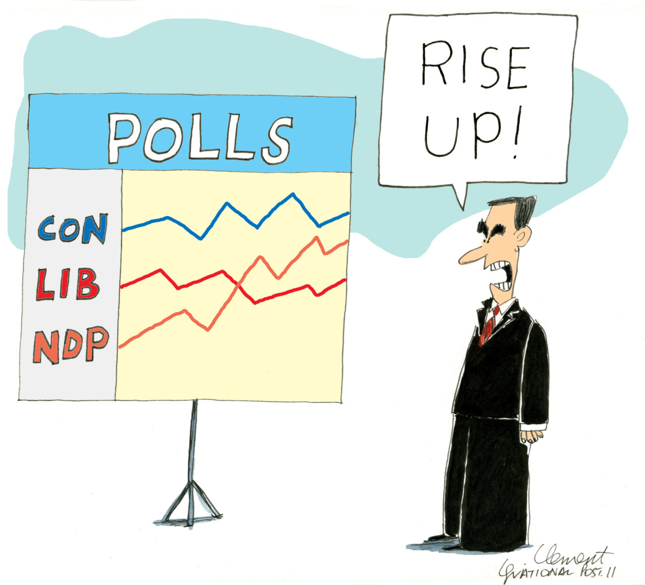 Scott Stinson: Liberals, NDP maybe not so compatible On Wednesday, Michael Ignatieff was again fending off coalition questions, but now the reporters want to know what he thinks of being the  junior partner in such an arrangement. It's a notion that Mr. Ignatieff would have been fair to equate with toads falling from the sky as recently as last weekend, but now several polls suggest he is staring such a possibility right in its ugly, pimpled kisser.Layton would make best PM, voters say Poll after poll Wednesday confirmed Jack Layton's NDP is in a solid second place, even as a new leadership survey suggests Canadians now feel he'd make the best prime minister of the pack.NDP surge means some unlikely candidates have a shot at Parliament As long as the NDP has existed, its candidates in Quebec have run secure in the knowledge they would not be moving to Ottawa after election day. Only two New Democrats from the province have ever won office. But now, as opinion polls show the party leading in the province, its slate of 75 largely unknown faces is coming under unprecedented scrutiny, with sometimes surprising results.