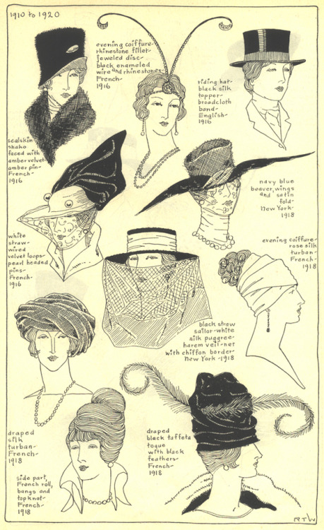 Hats and turbans, 1910-1920