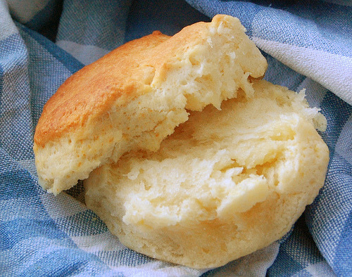 discoverynews:  foodaday:  Happy National Buttermilk Biscuit Day (May 14).  what a happy day!  Haa.. I missed it?! Will you look at that biscuit? Damn.