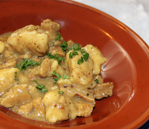 findvegan:  Cracker Barrel's - Chicken n' Dumplins (vegan)