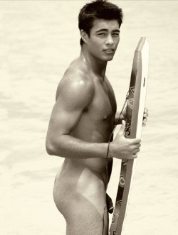 naked surfer boy