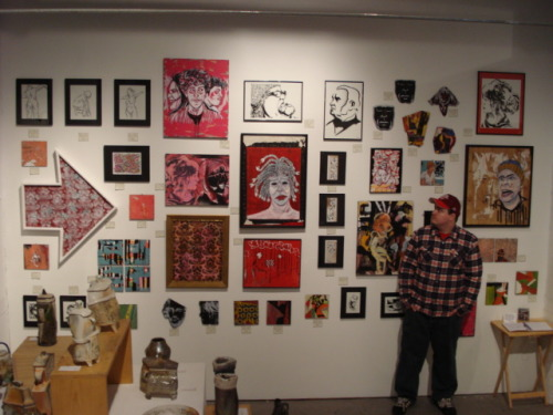 My wall at The AZ Gallery for the St. Paul Spring Art Crawl.  Lots O' Art!