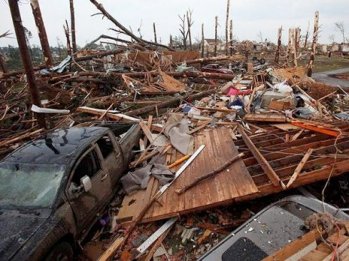 Catastrophic storms, tornados wreak a historic toll The carnage in context: Obviously, it's tough to quantify the costs in property damage, land damage, and the hideous trauma that has been thrust upon so many, and in the case of the trauma it'll probably never be. That said, in terms of the most irreversible damage done, lives lost, we at least know this much — this was a big one by America's standards. With the death-toll grimly ticking upwards as hours roll by, this will be at least the 7th largest loss of life by storm in American history, and that could easily change in the following days. Our thoughts are with them. (photo by Dusty Compton, from the Tuscaloosa News' photo gallery) source Follow ShortFormBlog