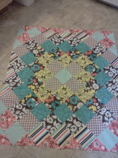 Finished this a couple nights ago…antique look quilt top…now just to quilt & bind it