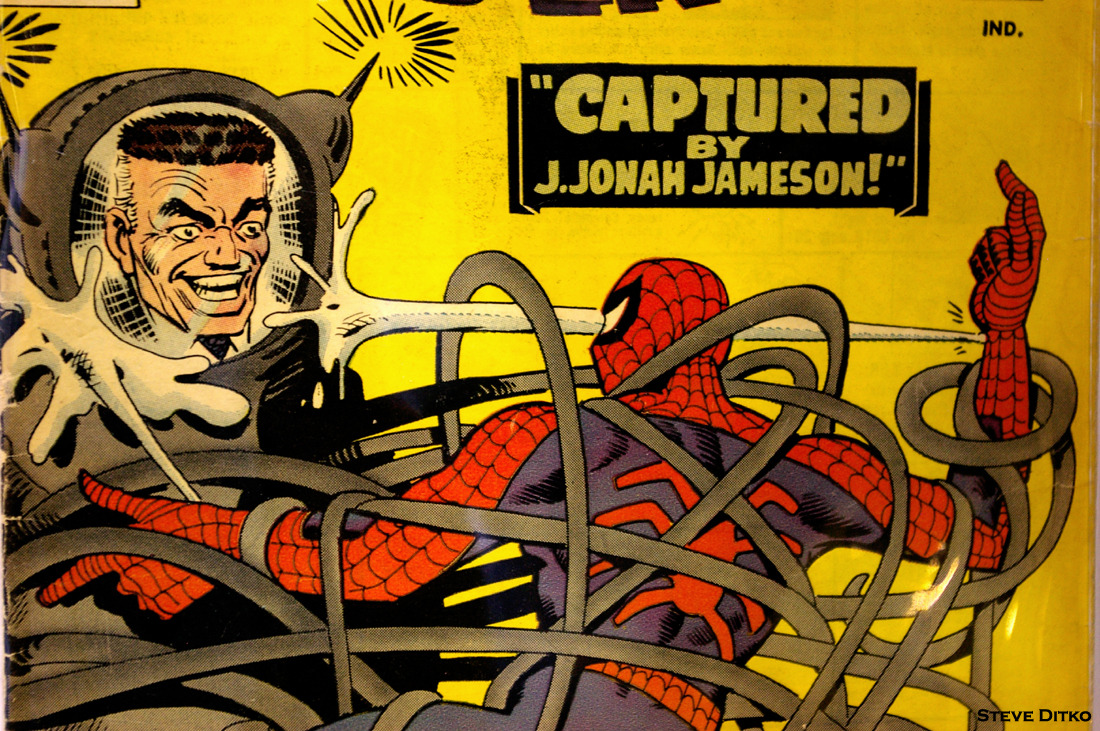 """Captured by J. Johah Jameson!"" The Amazing Spider-Man #25. June 1965. By Stan Lee & Steve Ditko. Cover Art by Steve Ditko. MegaCon. Orlando. 2011. Exhibit Hall."