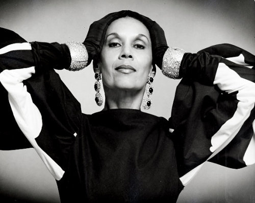 those sleeves! the diamonds! vintageblackglamour:  Carmen de Lavallade, April 16, 1985. Photograph by Kenn Duncan.
