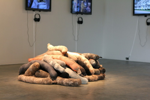 Installation view of: and act calmly April 18-22, 2011 at the University of Virginia.