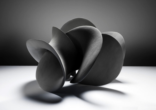 ceramicsnow:  Merete Rasmussen: Black Loop  This is clay… wow