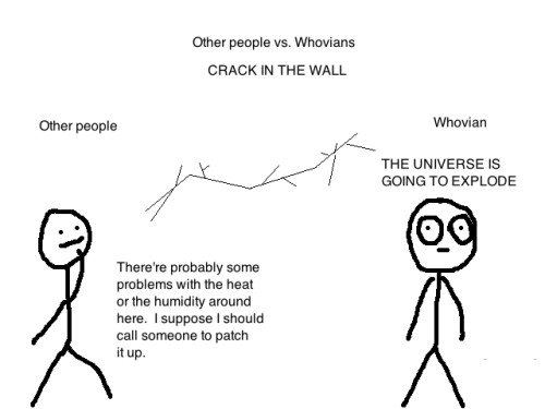 Other people vs. Whovians - CRACK IN THE WALL