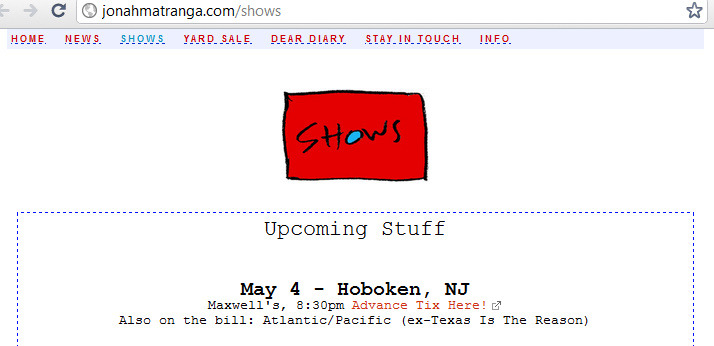 Awesome. Jonah's going to be in Hoboken next week.