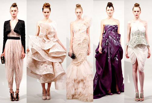 Marchesa Spring 2011! I am in love with this collection! Everything is just so beautiful that it's breathless!