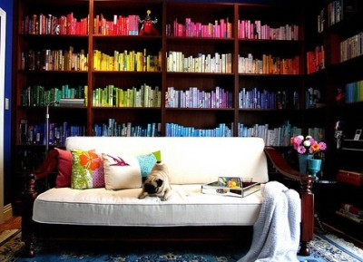 happyhues:  Oh man, I want this library (via pinterest)