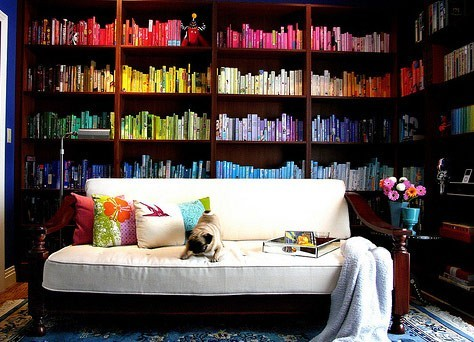 happyhues:  Oh man, I want this library (via pinterest)  My photo professor took a picture of a library similar to this.