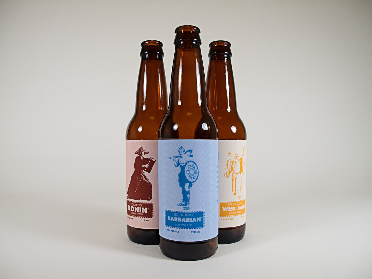 Beer Labels for the Mound Builders Brewing Company — part of a final project. Wish it were real! Anyone want to start a brewery? I have some identity, promotional design, and packaging done. :)