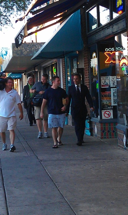Just saw Aasif Mandvi walking down 4th ave in Tucson, filming for The Daily Show.