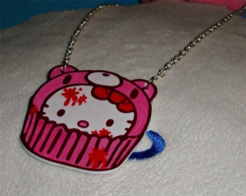 Gloomy Bear x Hello Kitty Cupcake Necklace