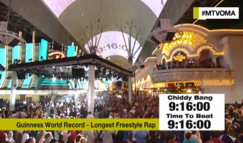 illroots:  CHIDDY SETS GUINNESS WORLD RECORD FOR LONGEST FREESTYLE EVER