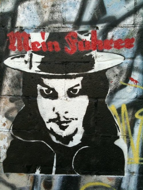 ":: Nashville, Tennessee, Street Art - Jack White Stencil with ""Mein Fuhrer"" Text ::"