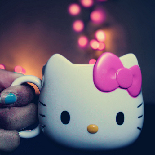 Pink Hello Kitty Bokeh