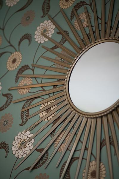 A $10 mirror can be made amazing with one can of gold spray paint!
