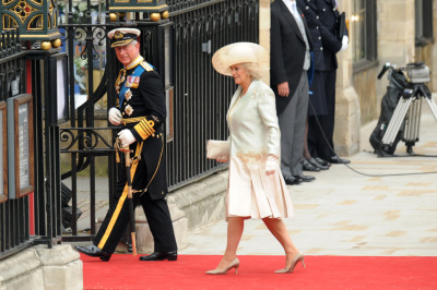 nationalpost:  Prince Charles and his wife, Camilla, the Duchess of Cornwall, arrive at Westminster Abbey for the Royal Wedding. Our live coverage of the Royal WeddingJoin the Post's fascinator-clad team of editors and reporters offers  up a regal assortment of royal wedding live commentary, photos,  ceremonial play-by-play and reaction from London and beyond. Click here for our complete photo gallery of the arrivals.