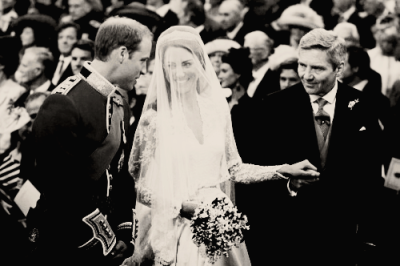 William & Kate Black & White … I just love B&W Images .. Beautiful moment