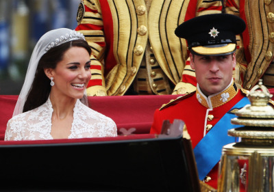 nationalpost:  Their Royal Highnesses Prince William Duke of Cambridge and Catherine Duchess of Cambridge make the journey by carriage procession to Buckingham Palace following their marriage. Photo credit: Dan Kitwood/Getty ImagesOur live coverageJoin the Post's fascinator-clad team of editors and reporters offers up a regal assortment of royal wedding live commentary, photos, ceremonial play-by-play and reaction from London and beyond.