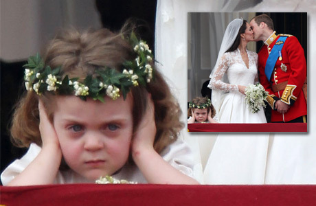 vanityfair:  Meet Grace Van Cutsem, the Tiny Frowning Bridesmaid Who Stole the Show. Photograph by Peter Macdiarmid/Getty Images.