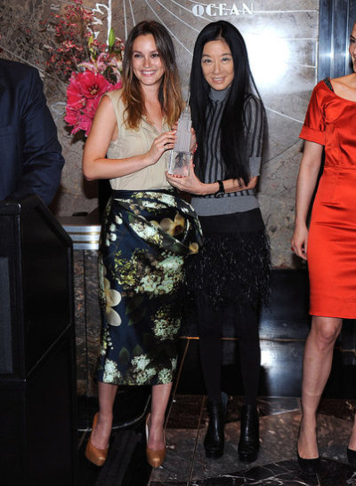Pictures of Leighton Meester and Vera Wang