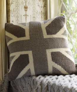 Union Jack cushion by Rowan Free Pattern
