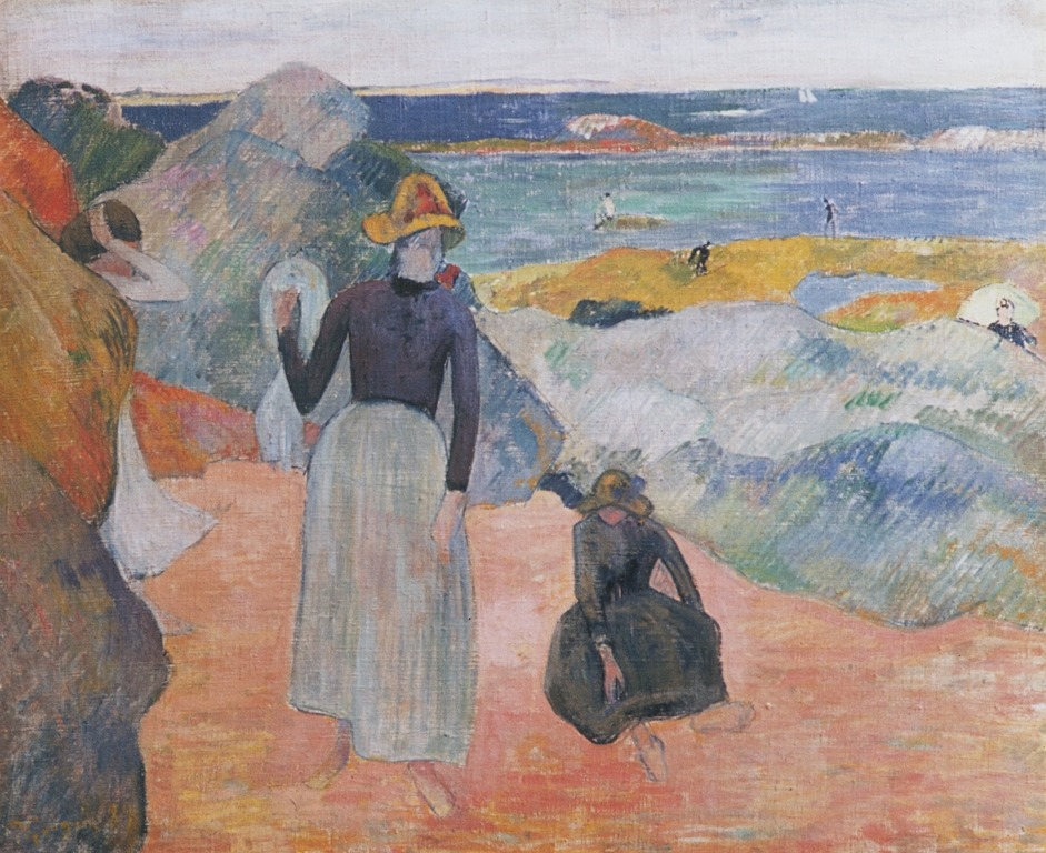 cavetocanvas:  Bretonian Seaside - Paul Gauguin, 1889