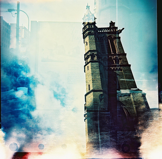 myinnerdaemon:  church of light leak by abdukted1456 on Flickr.
