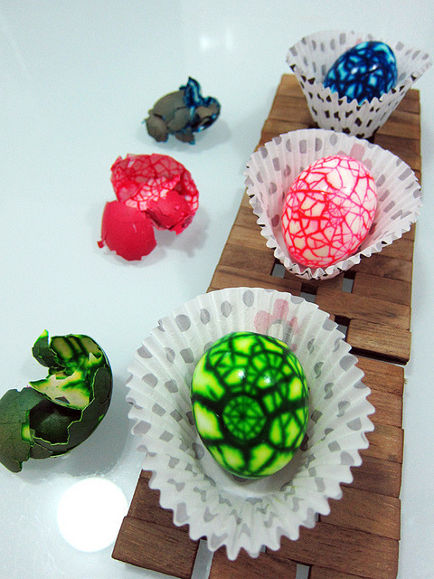 Surprise Marbled Easter Eggs {How To} Found at: kimberlycun