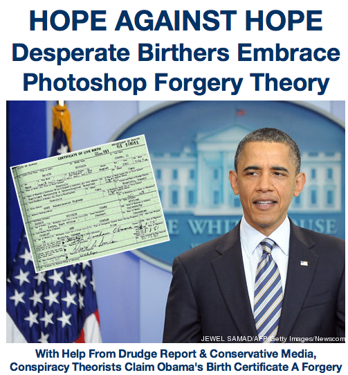 With Drudge Report's Help, Birthers Latch Onto Phony Forgery Theory - TPM