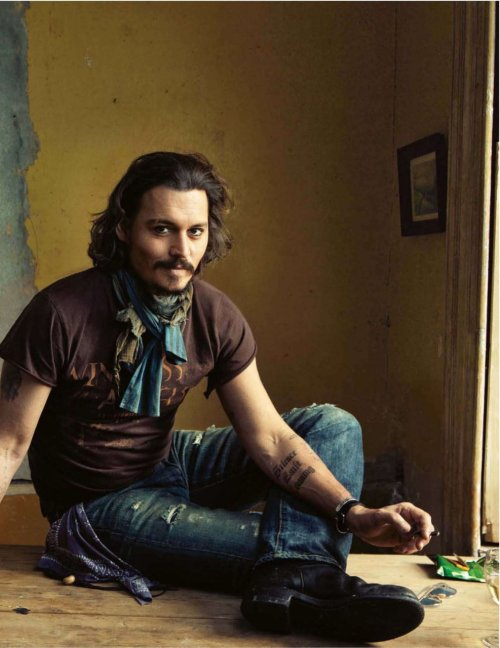 Johnny Depp by Annie Leibovitz in GQ Magazine