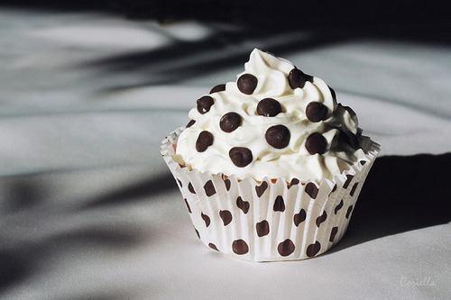 A polka dot cupcake for you <3