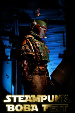 Steampunk Boba Fett in the Carbonite Chamber (by corymcburnett.com)