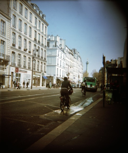 Biking to the Bastille | Shot with a Woca and Kodak Portra 160