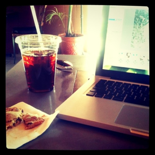 Coffee, sugar…. Portfolio time! (Taken with Instagram at Olympus Café)