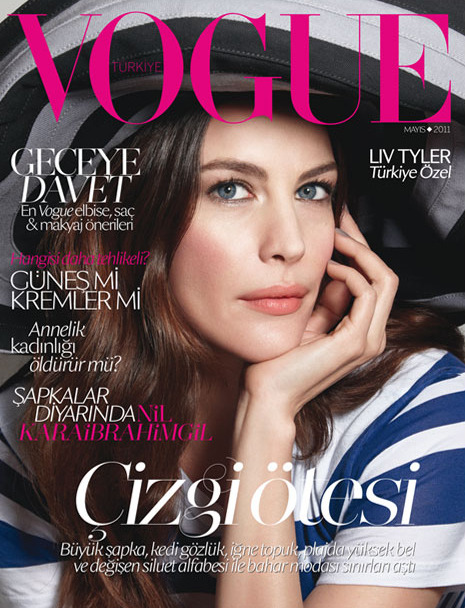 Liv on cover of Turkish Vogue.