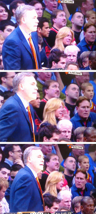Look at these Cavaliers fans behind Mike D'Antoni. Suffices to say, it was a rough year.