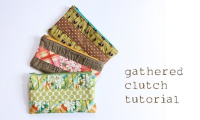bruyante:  Gathered Clutch by Noodle Head